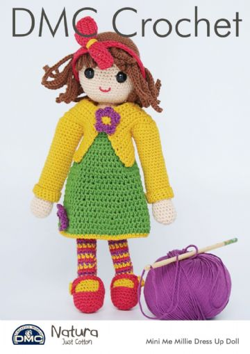 DMC Mini Me Millie Dress-Up Doll Crochet Pattern , 15442L/2